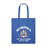 Novinophobia Bottles White Text - Tote Bag