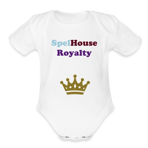 SpelHouse Royalty (baby) - Organic Short Sleeve Baby Bodysuit