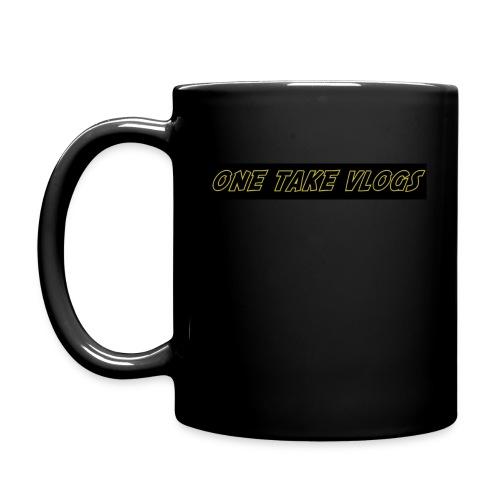 ONE TAKE VLOGS ADVENTURE COFFEE MUG BLACK - Full Color Mug