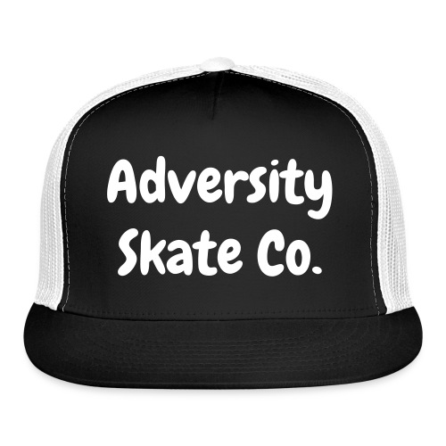 Adversity hat white on black/white - Trucker Cap