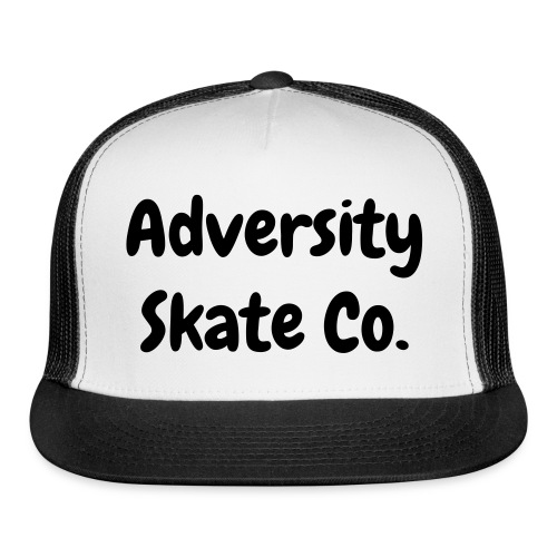 Adversity hat black on white/black - Trucker Cap