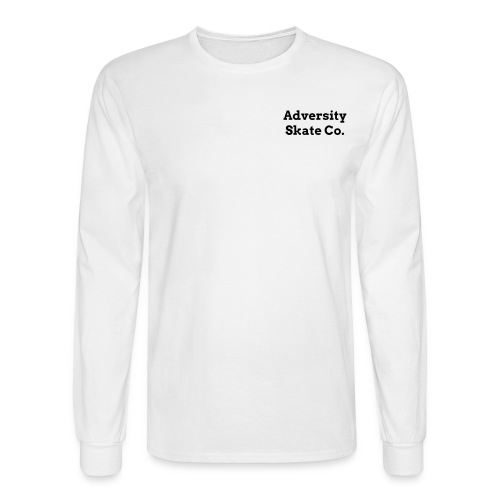 Adversity front and back design long sleeve tee black on white or grey - Men's Long Sleeve T-Shirt