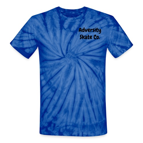 Adversity tie dye tee front & back design black text (available in 3 colors) - Unisex Tie Dye T-Shirt