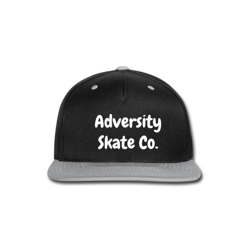 Adversity hat white text (different color waves) - Snap-back Baseball Cap
