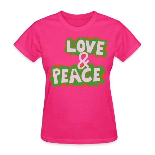 Love and Peace Womens Relaxed Fit T-Shirt - Women's T-Shirt
