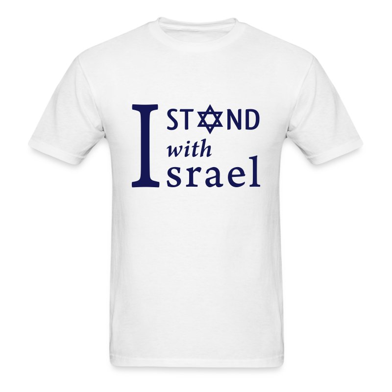 I STAND WITH ISRAEL Mens' White T-Shirt - Men's T-Shirt