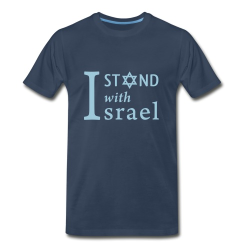 I STAND WITH ISRAEL Men's T-Shirt - Men's Premium T-Shirt
