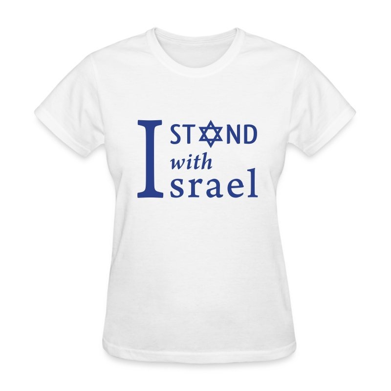 I Stand Ladies' White - Women's T-Shirt