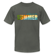 T-Shirts ~ Men's T-Shirt by American Apparel ~ Waiting for the Summer