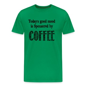 Sponsored by coffee - Men's Premium T-Shirt