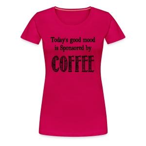 Sponsored by coffee - Women's Premium T-Shirt