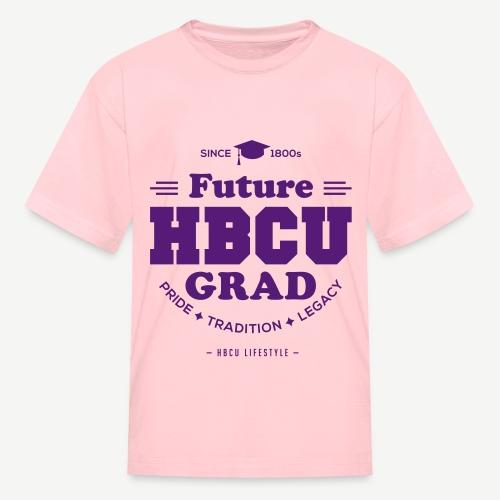 Future HBCU Grad - Kid's Purple and Pink - Kids' T-Shirt