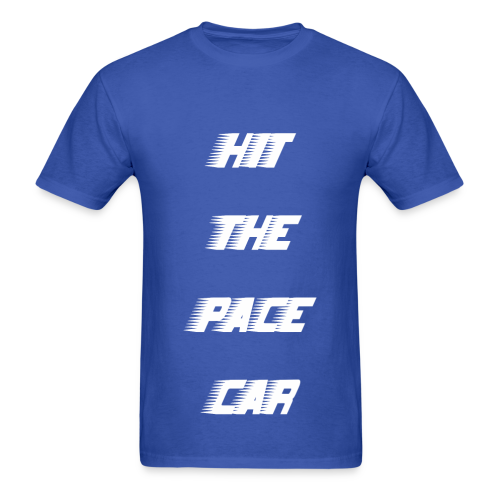 HIT THE PACE CAR - ROYAL BLUE - Men's T-Shirt