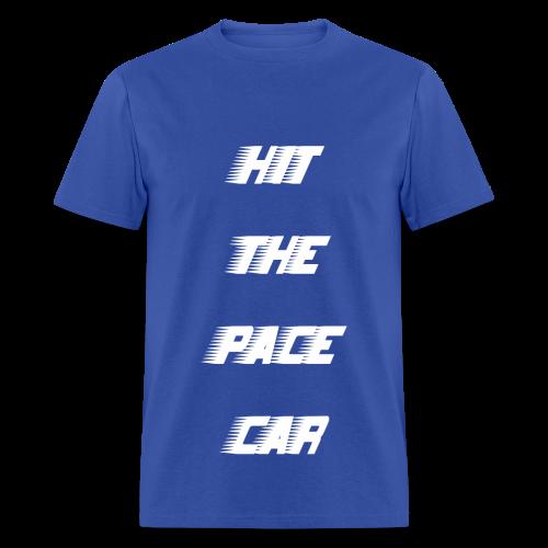 HIT THE PACE CAR - ROYAL BLUE - Men's T-Shirt