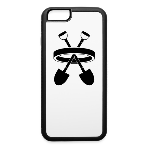 DigRing Logo-Black - iPhone 6/6s Rubber Case - iPhone 6/6s Rubber Case