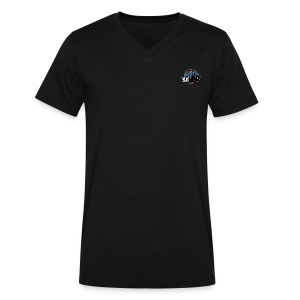 So100 Small Logo V-Neck Tee - Men's V-Neck T-Shirt by Canvas