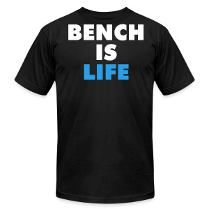 Bench Is Life - Blue (American) - Men's Fine Jersey T-Shirt