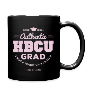 HBCU Grad Mug - Pink and Black - Full Color Mug