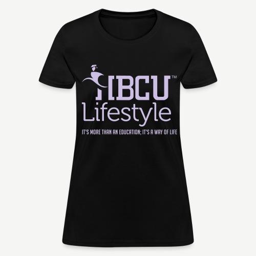 HBCU Lifestyle - Women's Lavender and Black T-Shirt - Women's T-Shirt