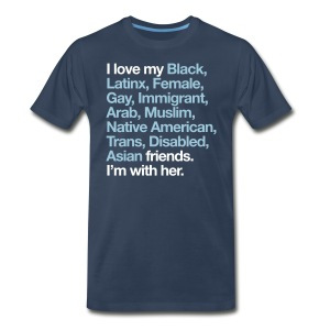 I Love My Friends Mens Navy T-Shirt - Men's Premium T-Shirt