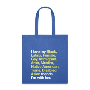 I Love My Friends Blue Tote Bag - Tote Bag