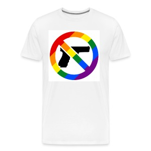 LGBT No Guns Mens T-Shirt - Men's Premium T-Shirt