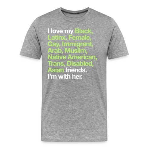 I Love My Friends Mens Heather T-Shirt - Men's Premium T-Shirt