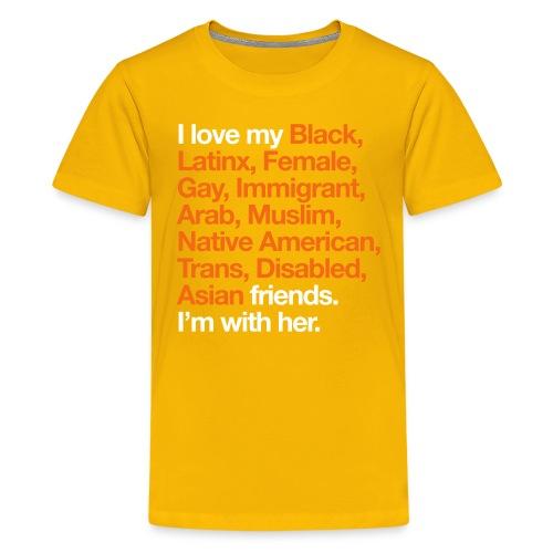 I Love My Friends Kids Yellow T-Shirt - Kids' Premium T-Shirt