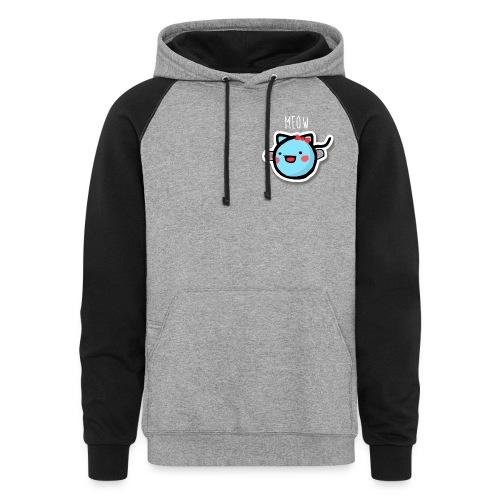 pea kitty hoodie - Colorblock Hoodie