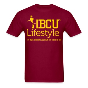 HBCU Lifestyle - Men's Gold and Burgundy T-Shirt - Men's T-Shirt