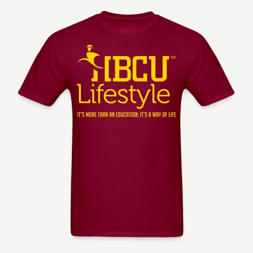 HBCU Lifestyle - Men's Gold and Burgundy T-Shirt - Men's T-Shirt