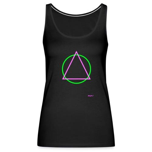 Neon T: Womens Premium Triangular Tank - Women's Premium Tank Top
