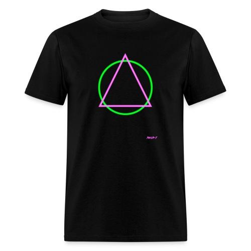 Neon T: Mens Triangular Tee - Men's T-Shirt