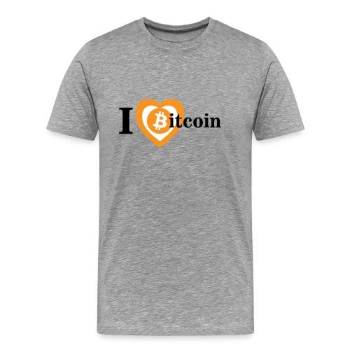 Shirt I Love Bitcoin - Men's Premium T-Shirt