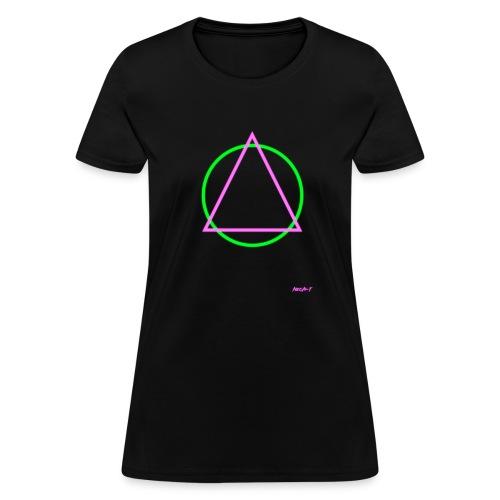 Neon T: Womens Triangular Tee - Women's T-Shirt