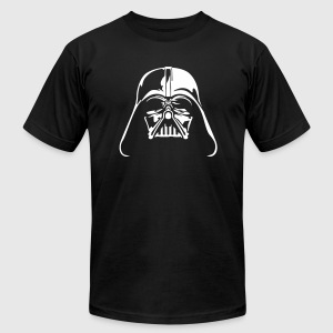 Black t-shirt Darth Helmet - Men's T-Shirt by American Apparel
