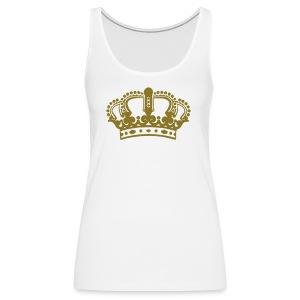 Womens Metallic Crown Tank - Women's Premium Tank Top