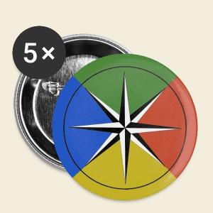 Temperament Compass button - large - Large Buttons