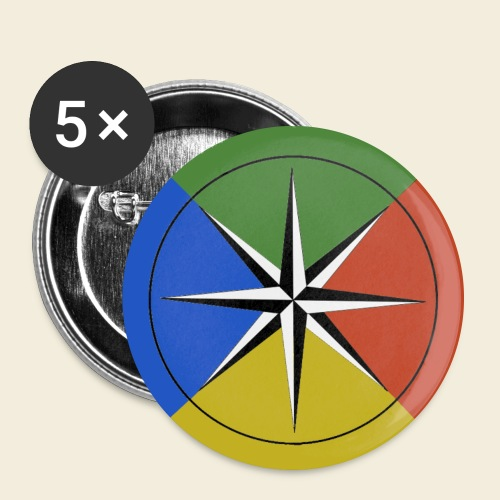 Temperament Compass button - large - Large Buttons