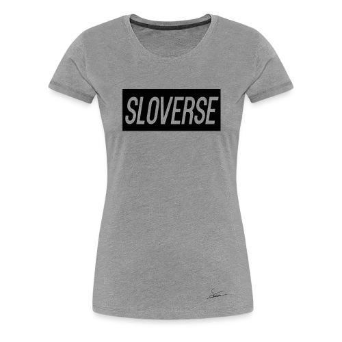 Sloverse Black Design T-Shirt Womens - Women's Premium T-Shirt