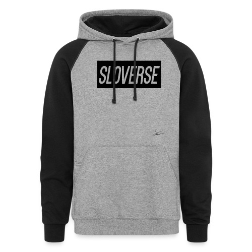 Sloverse Black Design Color-coded Hoodie for Men and Women - Colorblock Hoodie