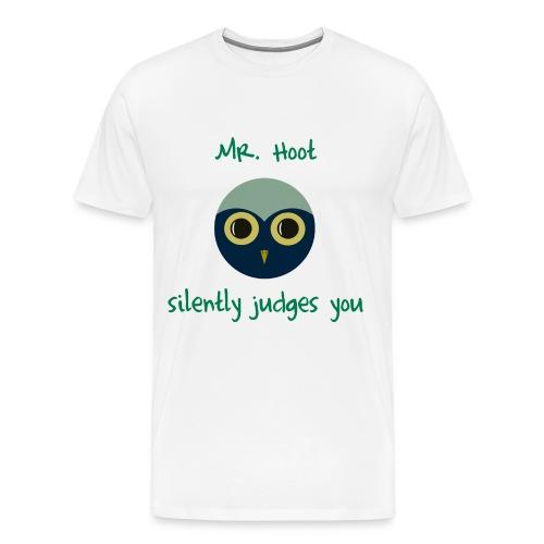 Men's Judgmental Mr. Hoot Shirt - Men's Premium T-Shirt