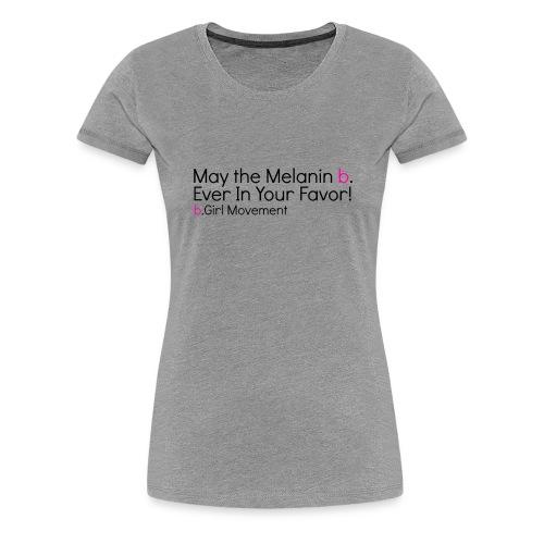 Hunger Games Melanin Short Sleeved Tee (Grey) - Women's Premium T-Shirt