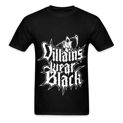 Men's T-Shirt - Villains Wear Black,Rawstyle,Hardstyle,Grim Reaper,Grim,Goth