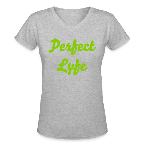 PL V-neck (green) - Women's V-Neck T-Shirt