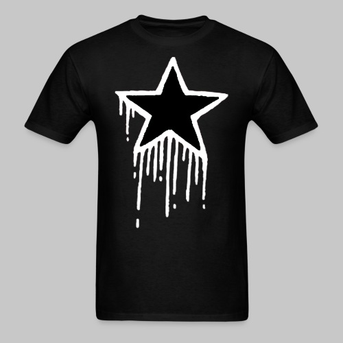 Bleeding Star Black/White - Men's T-Shirt