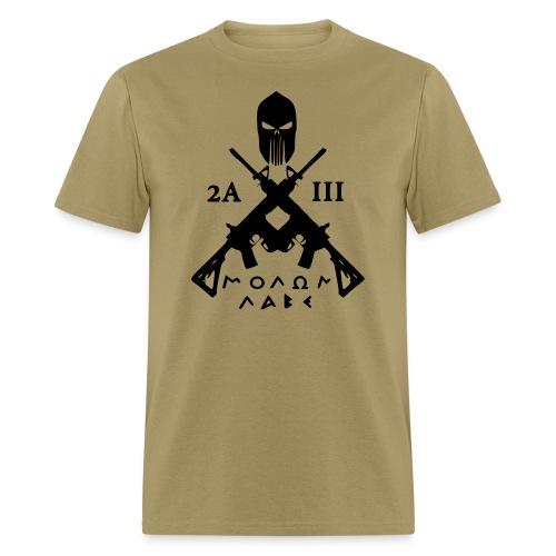 Men's 2nd Amendment III % and Molon Labe T-Shirt - Men's T-Shirt