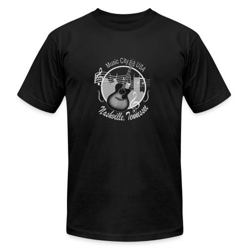 Vintage Nashville Silver Skyline Men's T-Shirts - Men's Fine Jersey T-Shirt