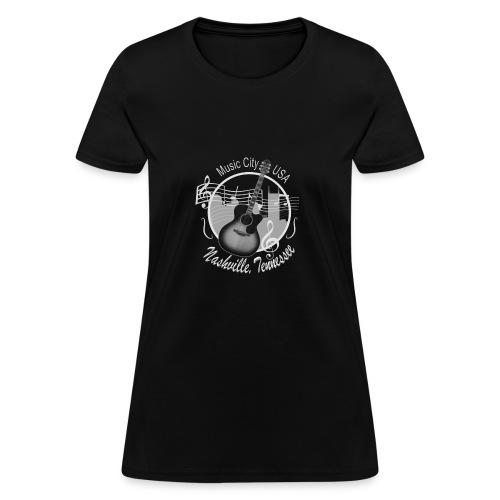 Vintage Nashville Silver Skyline Women's T-Shirts - Women's T-Shirt