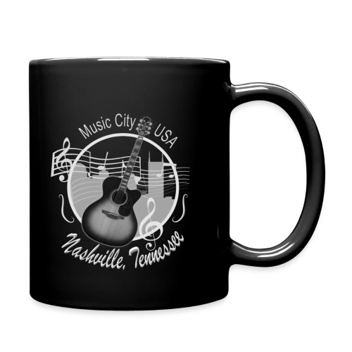 Nashville Vintage Skyline Coffee/Tea Mugs - Full Color Mug